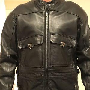 Harley Davidson men's leather lined jacket